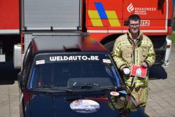Brandweer Westhoek promoot het belang van rookmelders op rallywagen