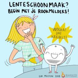 Cartooniste Eva Mouton tekent voor de West-Vlaamse Brandweer